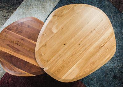 שולחן סלון אמורפי מעץ מלא