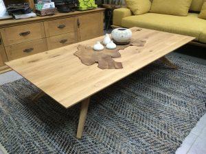 שולחן סלון מעץ מלא  דגם פקאן חן בן טל