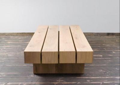 """שולחן סלון עץ מלא""""עדנים"""""""