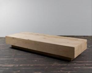 שולחן סלון מעץ מלא דגם בוקס חן בן טל