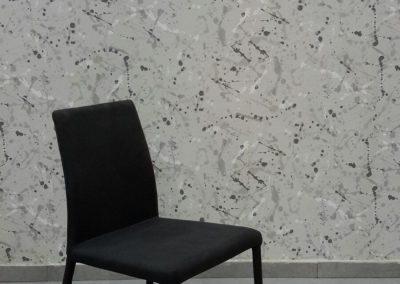 כסא לולה שחור מרופד