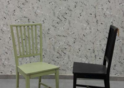 כסא מרי שחור ירוק