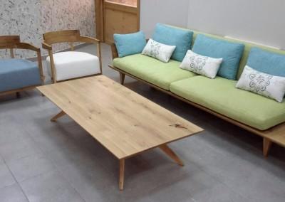 """שולחן סלון מעץ מלא """"פקאן"""""""